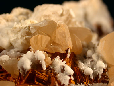 Cerusite, Aragonite, Baryte - MultiAxes